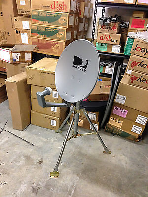 DIRECTV Portable Satellite Dish Tripod Kit for RV Tailgating Camping 18 inch