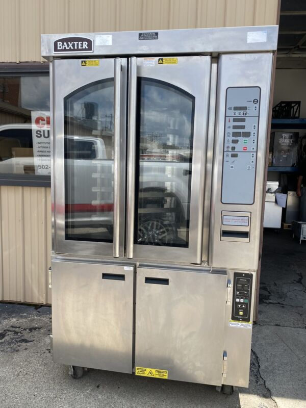 BAXTER ROTATING OVEN, MODEL# OV310E WITH PROOFING BASE MODEL# MB300