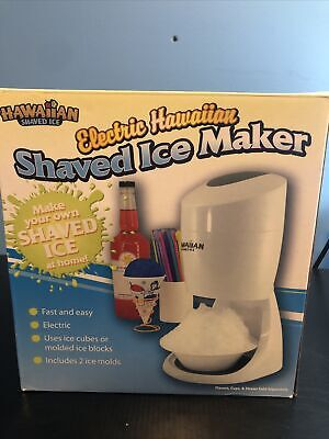 Hawaiian Shaved Ice S900a Electric Shaved Ice Machine Features Round Block