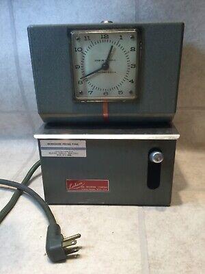 Vintage Lathem Punch Time Clock Works No Key