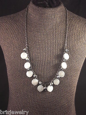 Lia Sophia Dangling Bead Necklace in Gun Metal NWT on Rummage