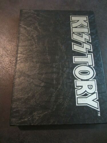 KISS KISSTORY BOOK SIGNED BY BAND - 1994 Limited Edition with Hardcover Slipcase