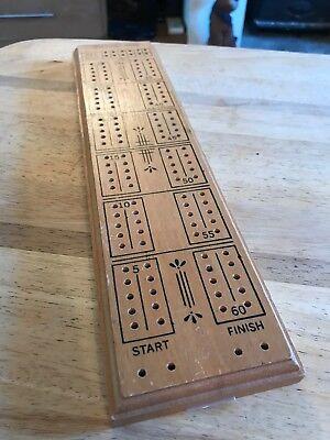 Antique Vintage Wooden Cribbage Board