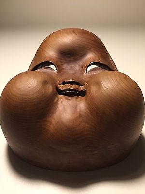 Fine-Quality, Ichii-itto-bori, Japanese Okame Wooden/Wood Mask