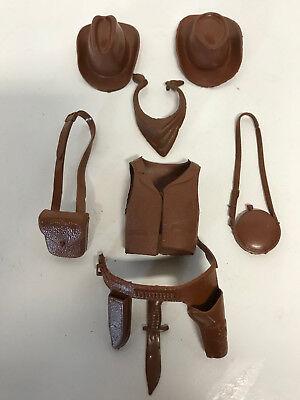 Marx (BROWN COWBOY ACCESSORIES 8pcs ) Best Of The West - Cowboy Accessories
