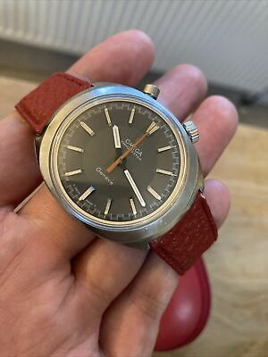OMEGA Driver's Chronostop Ref: 145.010 Wristwatch With Original Strap Vintage