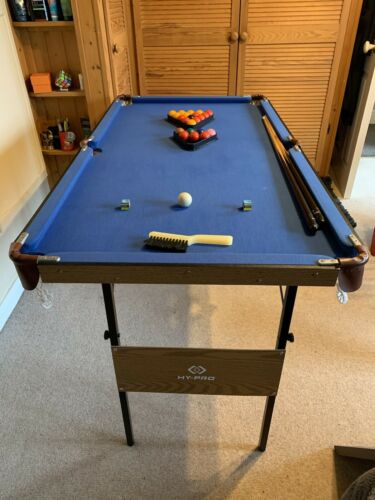 HY-PRO Snooker Table and Pool Table, Cues, Balls, Brush and 2 x Chalk Included.