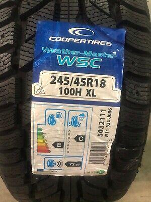 4 New 245 45 18 Cooper Weather Master WSC Snow Tires