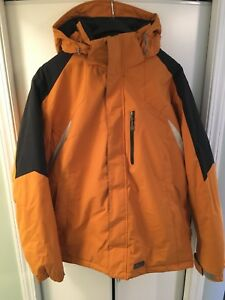 Men's orange Mole winter jacket, size L
