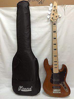 2 MN NA Ash 5 String Bass Guitar, Free Gig Bag, Brand New