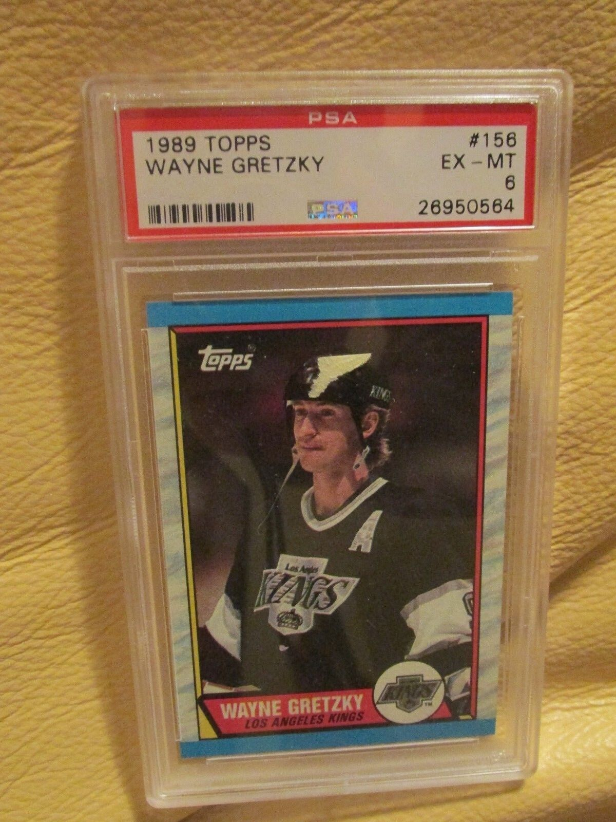 1989 TOPPS - WAYNE GRETZKY - PSA 6 EX-MT - Card #156 - L.A. Kings