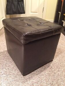 Faux leather storage cube