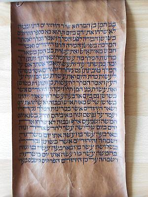 Hebräische Hebrew Handschrift 1880 Leder Esther Ahasveros Xerxes Vasti Judaica