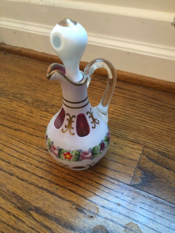 Antique collectible cruet Moser