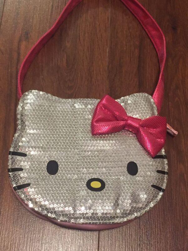 Hello Kitty Sequin Purse (EUC) Zipper Closure Handbag