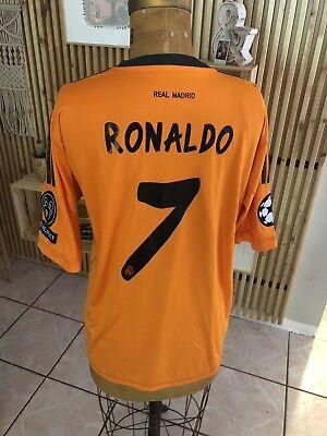 b05c54323 Authentic Real Madrid Ronaldo Orange 2013 2014 UEFA Jersey Camiseta Shirt XL