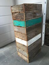 Handmade rustic wood display trays - painted - recycled - timber crate Seaforth Manly Area Preview