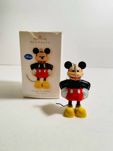 Hallmark Keepsake Ornament 2009 Vintage Tin Mickey Mouse Disney Metal