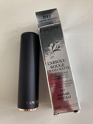 Lancome L'absolu Rouge Drama Matte Lipstick Saphir Absolu 517 New Boxed