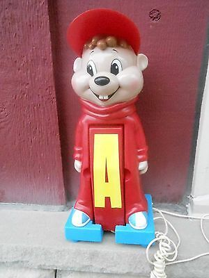 VINTAGE FIGURAL CHARACTER telephone (S9) CHIPMUNKS  - ALVIN advertising