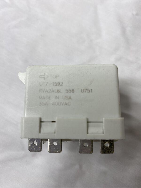 1 – Electrica U17-1592 Relay, RVA2AL6L 556 U751, 35 A – 400VAC Made in USA. NEW