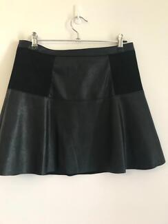 Women's clothing size 10 skirt faux leather forever new
