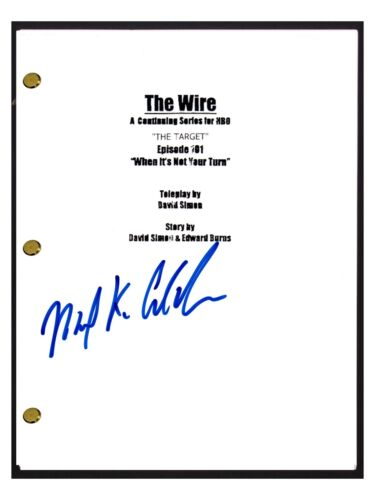 Michael K Williams Signed Autographed THE WIRE Pilot Episode Script Omar COA