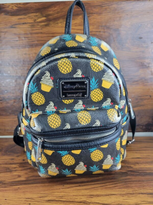 Disney Parks Loungefly Dole Whip Pineapple Swirl Mini Backpack / Limited Edition