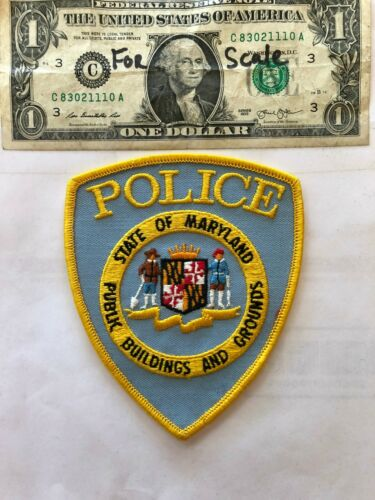 Public Buildings Grounds Police Patch Maryland  un-sewn great shape