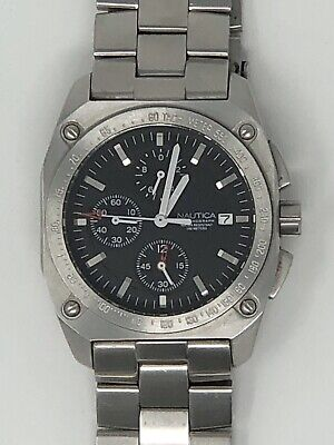 Nautica Chronograph Men's Watch with Steel Band (Needs Battery)