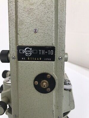 Vintage Geotec Th-10 Engineers Transit Theodolite