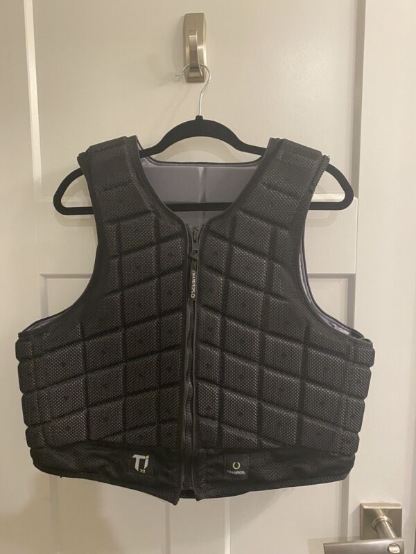 Champion Adults' Titanium Ti22 Body Protector Eventing Safety Vest Short Large