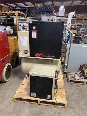 Ingersoll Rand 80 Gal 7.5hp 3 Phase Rotary Screw Air Compressor 28 Cfm
