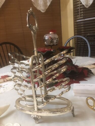 Large Victorian Style Silver Metal Toast Rack-Reproduction - $25.00