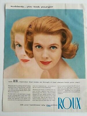 1957 Roux Haarfarbe Suddenly You Look Younger Redhead Blue Eyes Vintage
