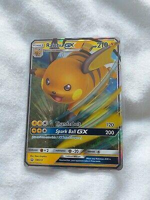 Raichu GX - SM213 - Rare Holo Promo Card - Pokemon Hidden Fates MINT