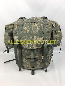 US ARMY ACU MOLLE LARGE RUCK SACK FIELD PACK COMPLETE W FRAME & POUCHES GOOD