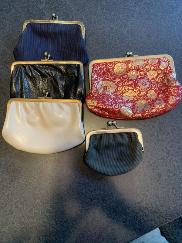 Vintage Coin Purse Small Clutch Set Of 5