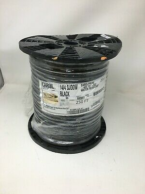 Spool Of Carol 144 Sjoow Black Water Resistant Outdoor Wirecable 250ft.