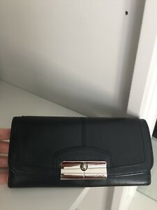 COACH Kristen Slim Black Large Wallet
