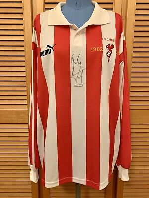 AS Cannes 2002-2003 home century signed football shirt jersey maillot camiseta