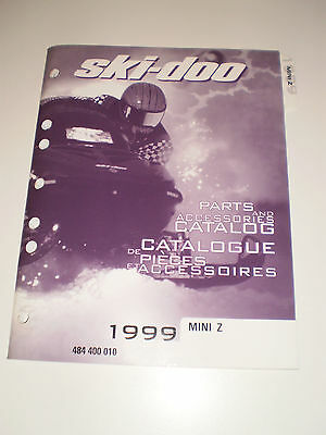 SKIDOO 1999 PARTS AND ACCESSORIES CATALOG MANUAL MINI Z