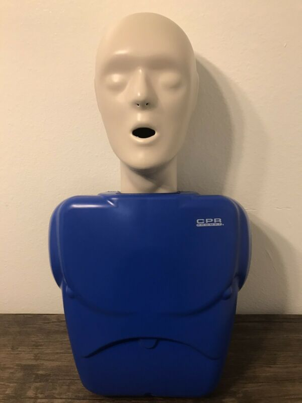1CPR PROMPT TRAINING ADULT/CHILD MANIKIN DUMMY HEAD TORSO CHEST EMT NURSING USED