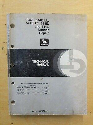 John Deere 544e 544e Ll 544e Tc 624e And 644e Loader Repair Technical Manual