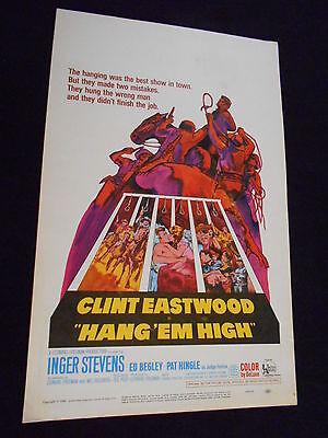 Hang Em High Original 1968 Rolled Movie Poster Clint Eastwood Inger Stevens