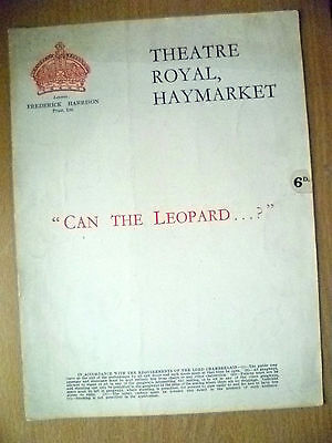 Theatre Royal Programme- CAN THE LEOPARD...? by Ronald Jeans