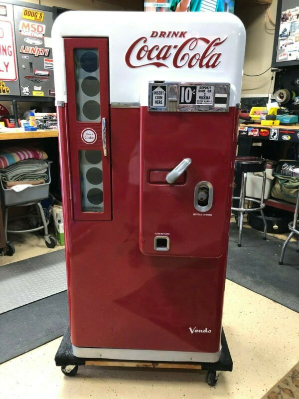 Vendo 56 Coke Machine Model H56A in great condition, with new cooling unit.
