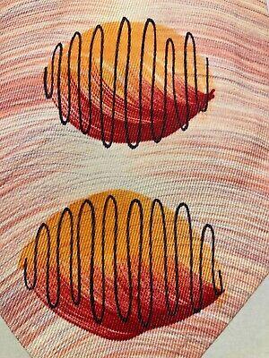 1940s Mens Ties | Wide Ties & Painted Ties VINTAGE 1940'S-50'S  WIDE SWING HAND PAINTED HONEY DIPPER DESIGN TIE NECKTIE  $16.50 AT vintagedancer.com