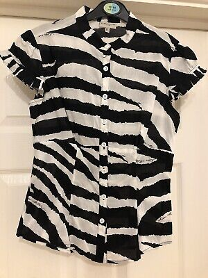 Usado, Animal Print Zebra Karen Millen Shirt Size UK 8 comprar usado  Enviando para Brazil