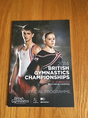 BRITISH GYMNASTICS CHAMPIONSHIPS 2014- COLLECTABLE PROGRAMME
